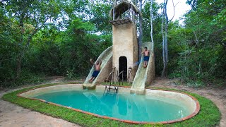 Build The Most Story House And Water Slide Park Swimming Pools