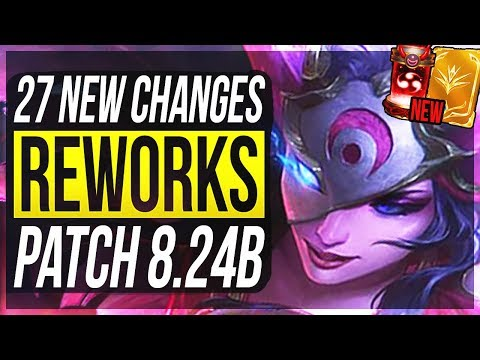 HUGE ADC & AKALI W CHANGES - 27 New Changes & OP Champs Patch 824b