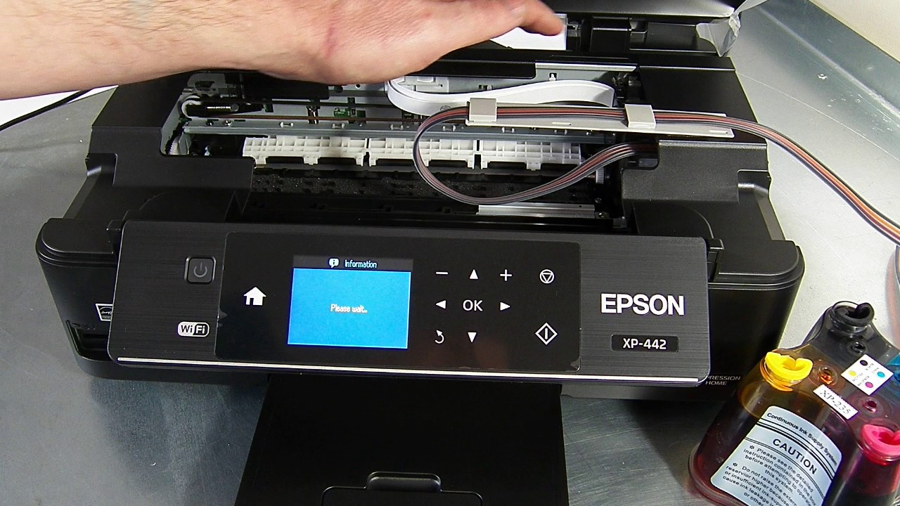 Ciss Continuous Ink System Fits Epson Xp442 Xp 442 Youtube