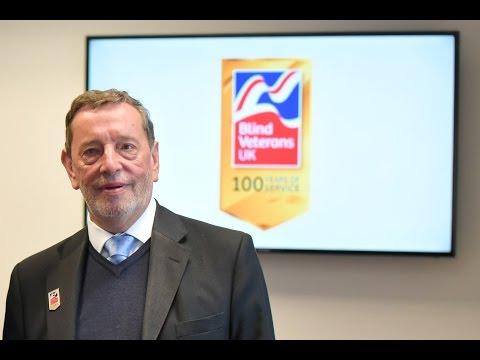 David Blunkett wishes Blind Veterans UK a happy 100th birthday