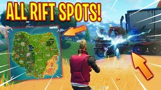 ALL RIFT LOCATIONS IN FORTNITE SEASON 5 (Portal/Rift Locations on the Map!)