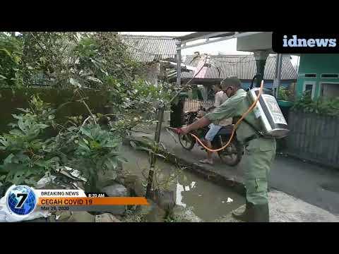 #idnews co.id# KETUA RT 03/03 DESA DRAMAGA MAMAN TERJUN SEMPROT PENCEGAHAN COVID 19#