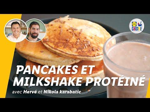 pancakes-à-la-ricotta-et-milkshake-protéiné-végétal-|-lidl-cuisine