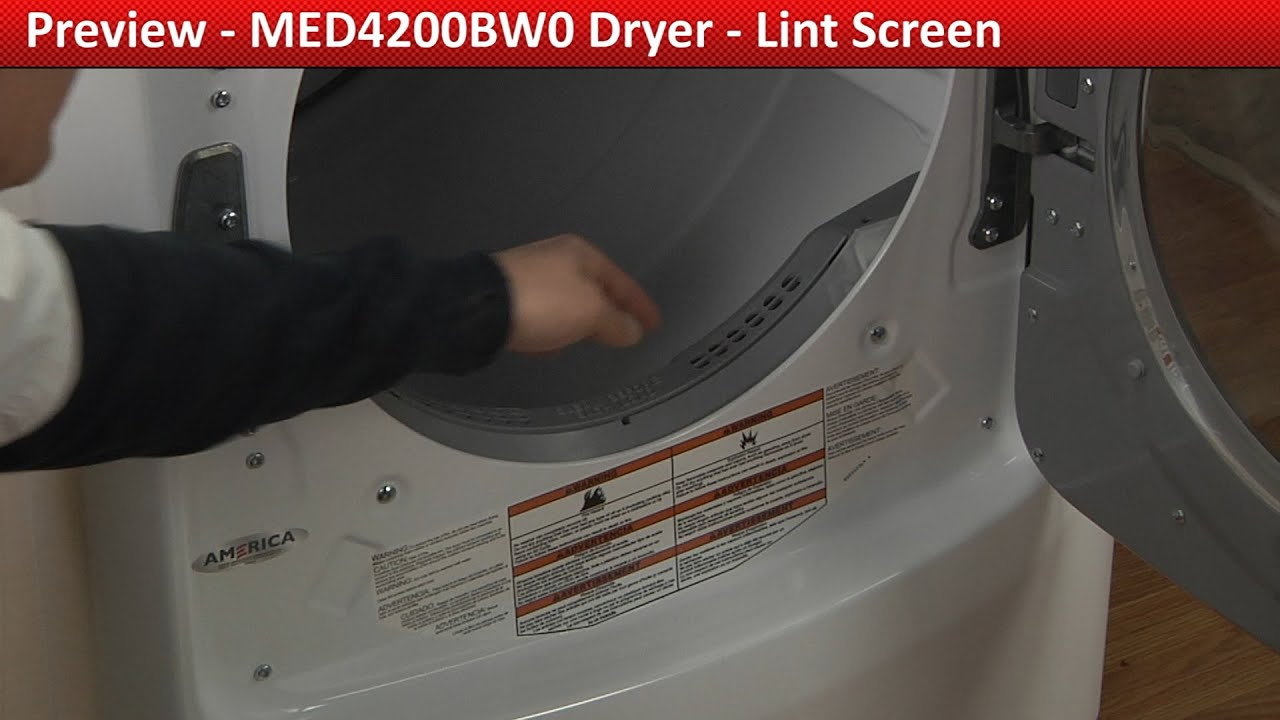 Lint Screen Replacement Med4200bw0 Maytag Dryer Youtube
