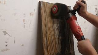 stare drewno / czyszczenie satyniarką
