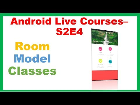 Android MVVM Room LiveData Full CRUD App → Room Model Class