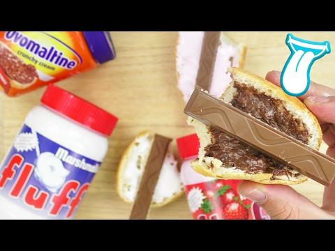 3 BROTAUFSTRICHE die DU probierenMUSST! |Marshmallow Fluff&Ovomaltine Crunchy Cream mit Milka | IAM