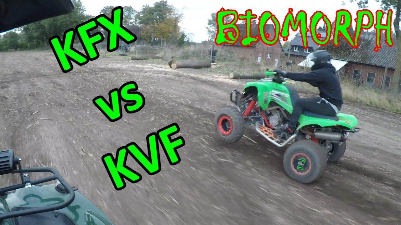 Download Kawasaki KFX 700 V-Force VS. Kawasaki KVF 750i Brute-Force | Quad Crew Münsterland | BI0M0RPH