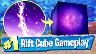 Fortnite Rift Cube Spawning Gameplay Footage - WHAT IS IT?!
