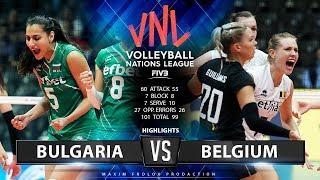 Bulgaria vs. Belgium | Highlights | Women's VNL 2019