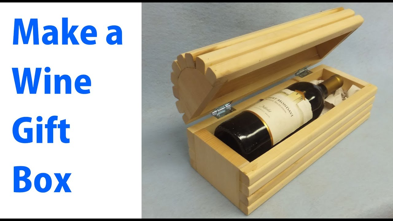 Making a wood wine gift box woodworkweb youtube for How to make a ring box out of wood