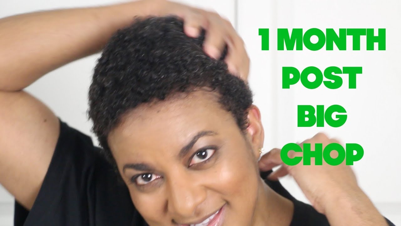 1 month post big chop | my twa style routine - youtube