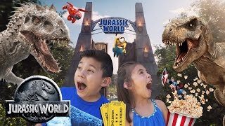 JURASSIC WORLD DAY! Movie Fun + Toy Shopping at Target! Minions, Minecraft, Inside Out & Terraria