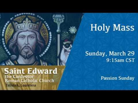 Holy Mass (English) with Fr. Ryan for Sun, Mar 29