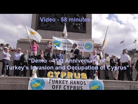 Demo - 41st Anniversary of Turkey's Invasion and Occupation of Cyprus