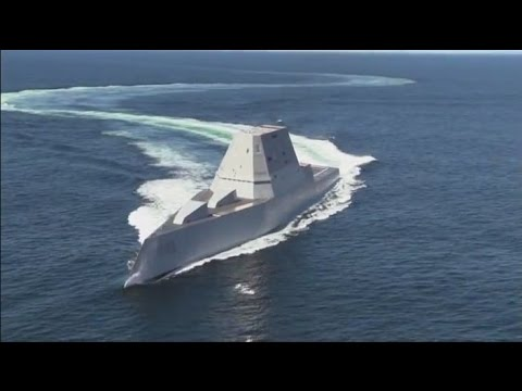 USS Zumwalt (DDG-1000) Time Lapse and Sea Trial