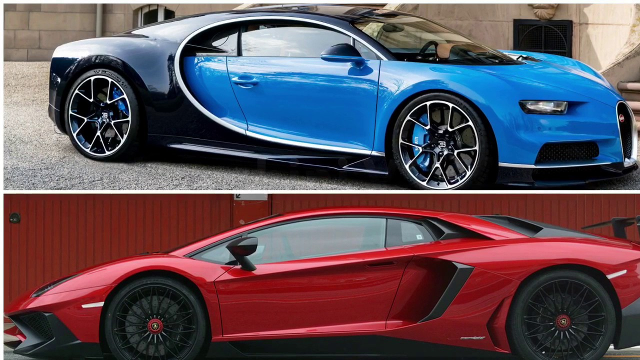 Lamborghini Aventador Vs Bugatti Chiron