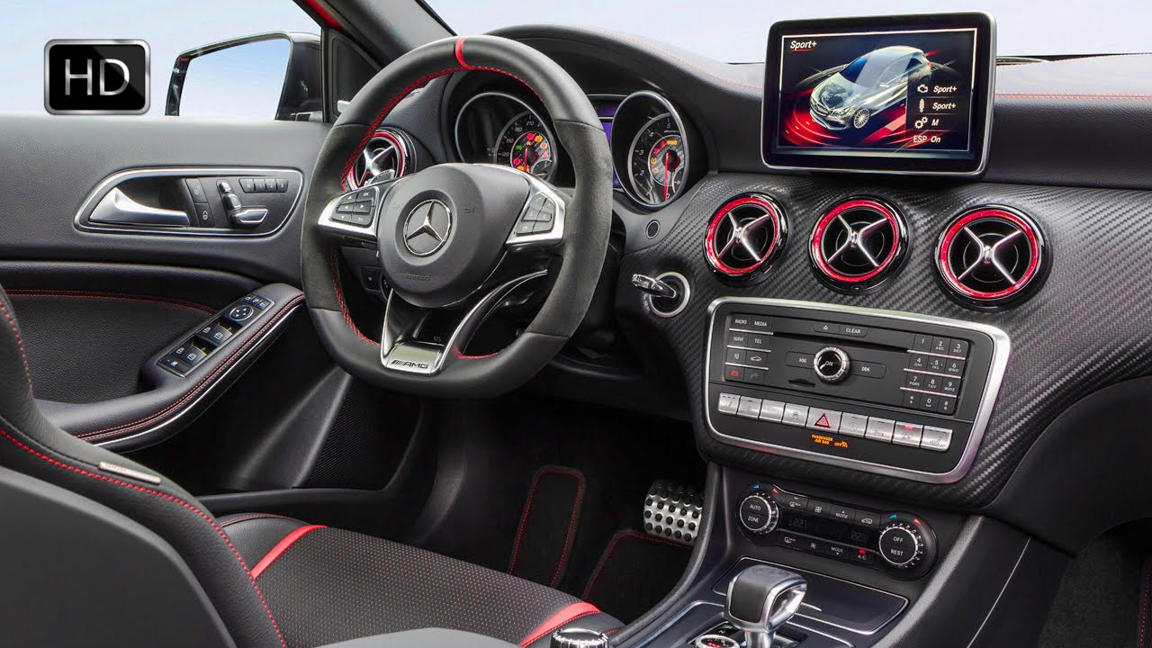 2015 mercedes amg a class a 45 4matic facelift interior design hd youtube. Black Bedroom Furniture Sets. Home Design Ideas