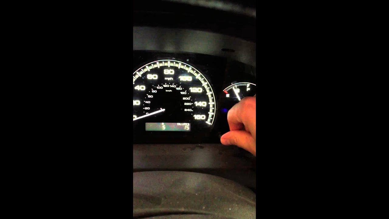 How To Turn Off The Wrench On Your 2007 Honda Accord Youtube