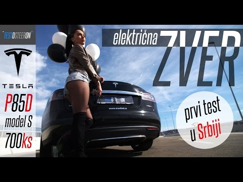 TEST TESLE MODEL S  P85D PRVI U SRBIJI!!!