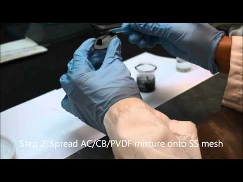 Phase inversion activated carbon cathode fabrication