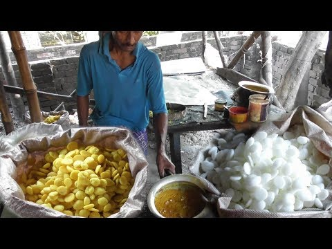White Batasha (Sugar Candy Sweet) & Yellow Batasha Preparation | Indian Street Food Loves You