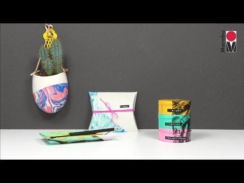 DIY: Marble paper & decoration (English)