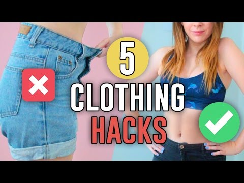 5 CLOTHING HACKS EVERY GIRL MUST KNOW!! // Jill Cimorelli