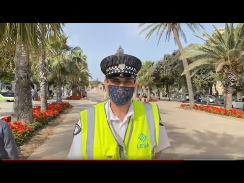 TICKET / FINE for -NOT- Wearing Face Mask Correctly in Malta!!  YES!!!  -  Valletta Malta - ECTV