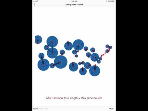 Traveling salesman problem: exact solution with the cutting plane method
