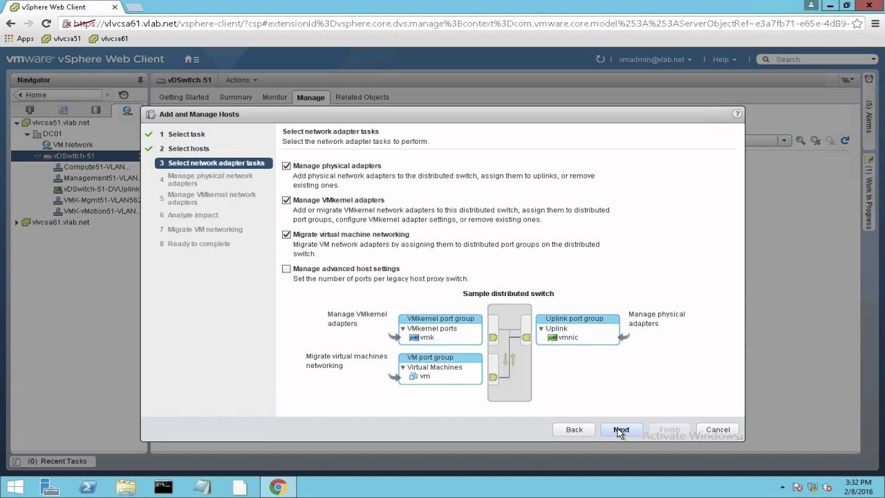 vSphere 6 - Migrate virtual networking from vSS to vDS
