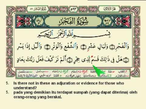 Surah Al Fajr Ayat 1 30 Arab Latin Dan Artinya Juz Amma
