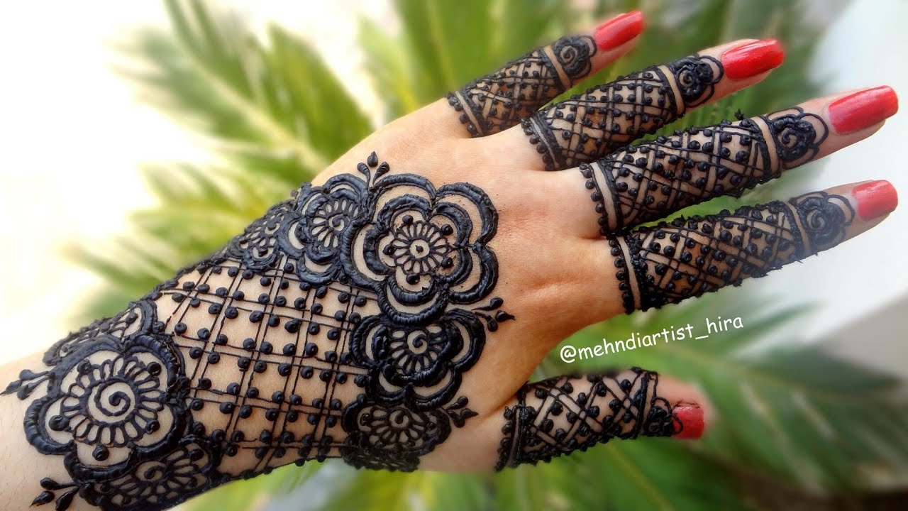 Apply Latest Gulf Easy Simple Henna Mehndi Designs For Hands For