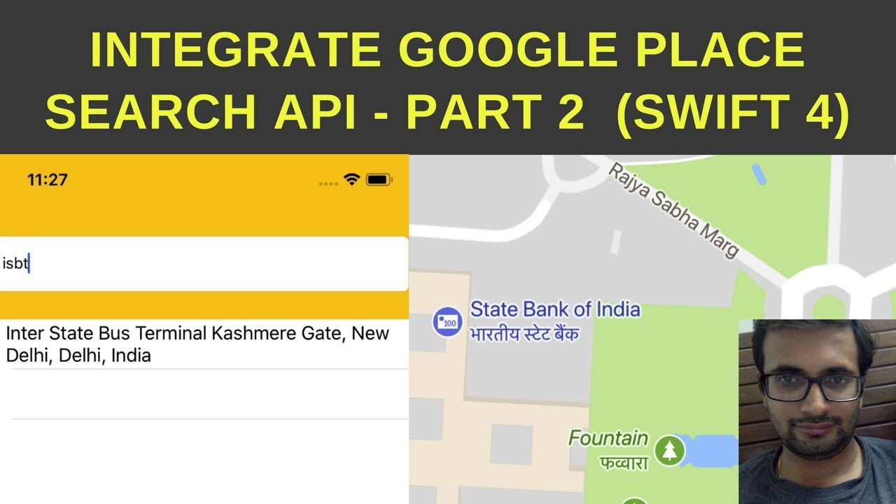Integrate Google Place search API swift4 tutorial - Part 2
