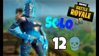 12 KILS SOLO WITH SKIN CAVALIRA FROZEN RUBRA, GAMEPLAY-FORTNITE BATTLE ROYAL