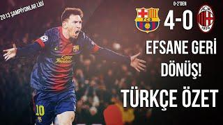 Barcelona 4-0 Milan | 2013 Şampiyonlar Ligi | Türkçe Özet • HD