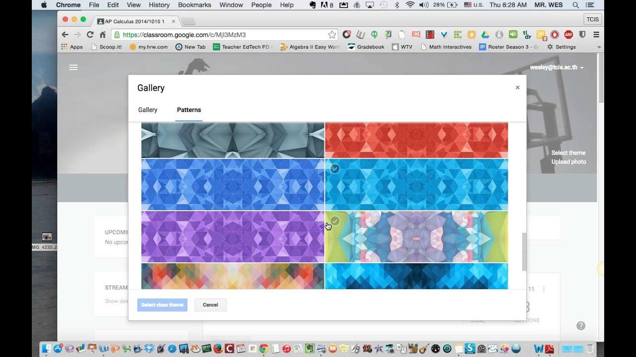 Google themes app - My New Theme In Google Classroom