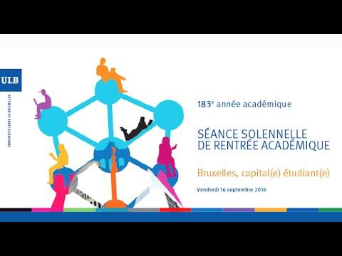 ULB - Cérémonie de rentrée académique 2016-2017