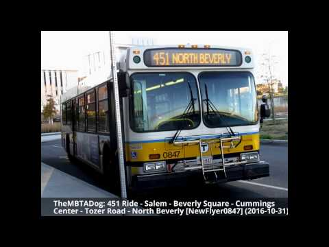 TheMBTADog: MBTA Bus 451 Ride - SALEM DEPOT to NORTH BEVERLY via TOZER ROAD [New Flyer 0847]