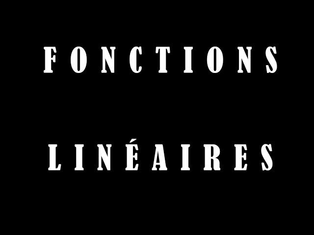 Fonction linéaire : déterminer graphiquement a - Cours maths
