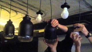 Установка LED-ламп в светильники из банки.(Установка светодиодных ламп Е27, 14Вт в дизайнерские светильники изготовленные с использованием трехлитров..., 2015-11-17T21:15:56.000Z)