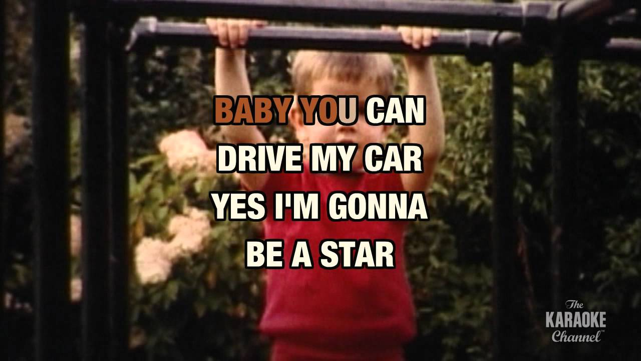 """Drive Lyrics Cars: Drive My Car In The Style Of """"The Beatles"""" With Lyrics"""