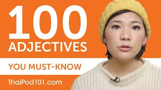 100 Adjectives Every Thai Beginner Must-Know
