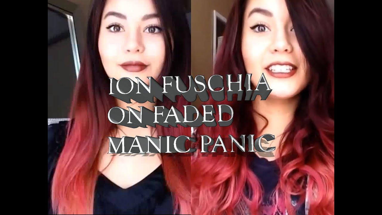 Color Brilliance Ion Fuschia On Faded Manic Panic Youtube