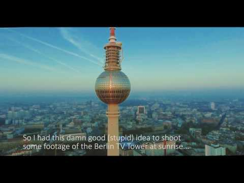 Phantom 4 crashs nearly into Berlin TV Tower - Huiuiuiui....