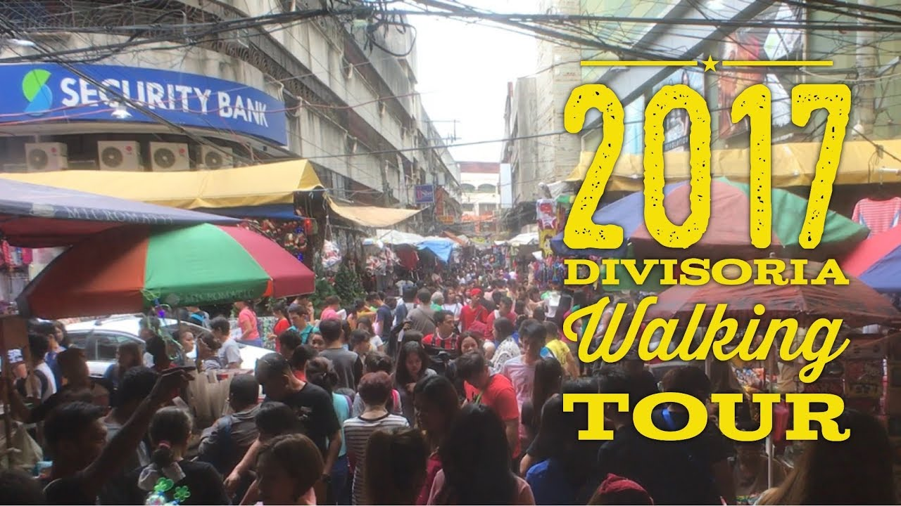 2017 Divisoria Walking and Food Tour Lucky Chinatown 168 Mall 999 Mall  Divisoria Mall Manila by Hour Philippines TV