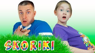 Collection of funny videos of Liza with Dad | SKORIKI