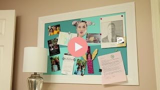 DIY Magnet Board for Teen Room