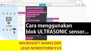 Lego Makecode Microsoft : Ultrasonic Sensor