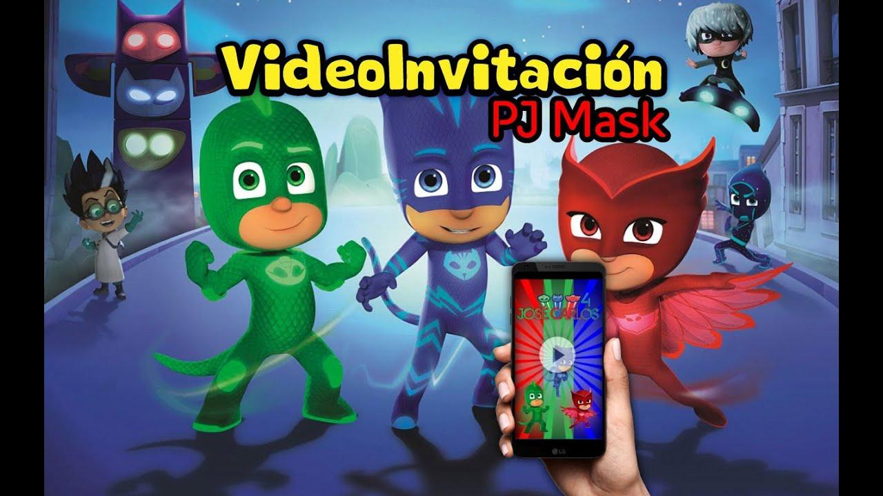 Video Invitación Pj Mask Heroes En Pijama